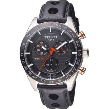 TISSOT PRS 516  賽車元素計時腕錶 T1004171605100 黑42mm