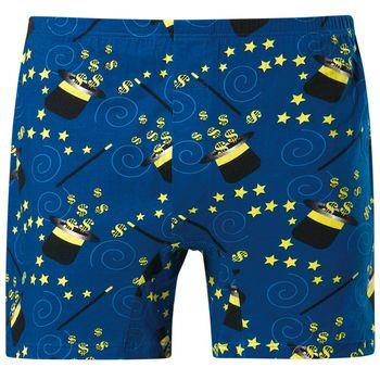 【DADADO】魔術金幣  M-3L印花平口褲(魔力藍)