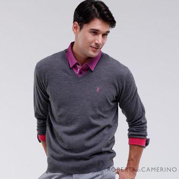 【ROBERTA諾貝達】高質感 100%純美麗諾羊毛衣 灰色