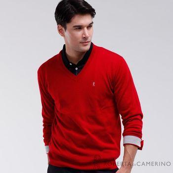 【ROBERTA諾貝達】高質感 100%純美麗諾羊毛衣 紅色