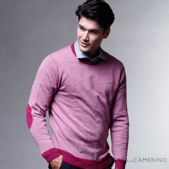 【ROBERTA諾貝達】時尚型男款 100%純美麗諾羊毛衣 紅色