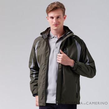 【ROBERTA諾貝達】嚴選穿搭 雙色拼接內刷毛夾克外套 暗綠