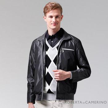【ROBERTA諾貝達】進口素材 禦寒必備 內刷毛夾克外套 黑色