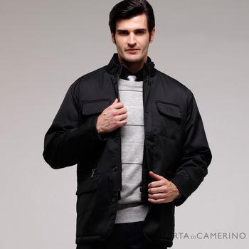 【ROBERTA諾貝達】台灣製 輕薄紳仕夾克外套 黑色