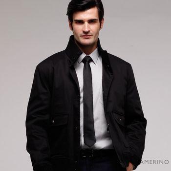 【ROBERTA諾貝達】台灣製 紳仕嚴選夾克外套 黑色