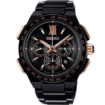 SEIKO 精工 Brightz 太陽能電波限量腕錶 8B92-0AH0SD  SAGA214J