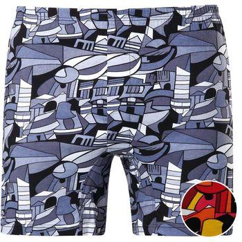 【DADADO】幾何色塊 M-3L印花平口褲(熱情紅)