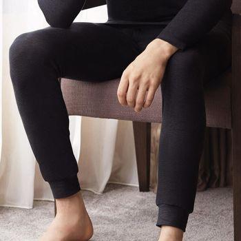 【DADADO】EKS保濕 素面M-LL 保暖褲(深灰)