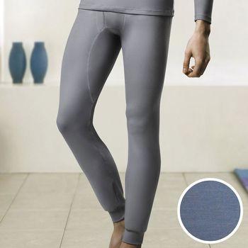 【DADADO】EKS保濕 SUPLY素面M-LL 保暖褲(灰藍)