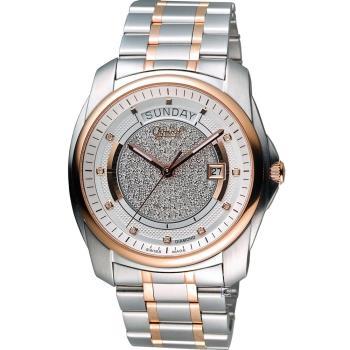 愛其華 Ogival 豪氣鑽石自動機械腕錶 3362-6AJGSR 雙色
