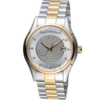 愛其華 Ogival 豪氣鑽石自動機械腕錶 3357-6AJMSR 雙色