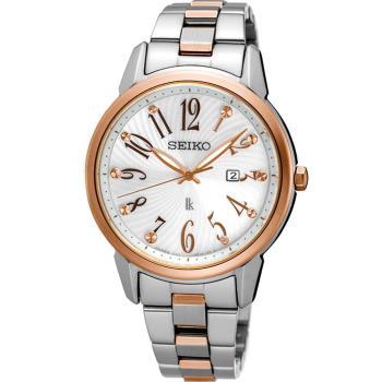 SEIKO 精工 LUKIA 快樂好時光時尚腕錶 V137-0CG0KS SUT298J1