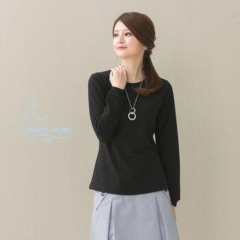 NATURE  ESSENCE純粹本質 C009WBK黑色 女款 美式重磅~純粹素色長袖棉T