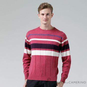 【ROBERTA諾貝達】進口素材 台灣製 圓領高質感 純美麗諾羊毛衣 紅色
