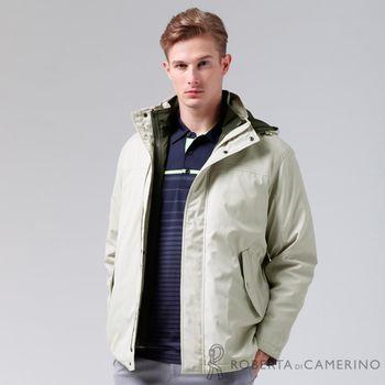 【ROBERTA諾貝達】禦寒必備 可拆二件式背心夾克外套 米白