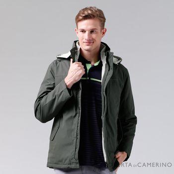 【ROBERTA諾貝達】禦寒必備 可拆二件式背心夾克外套 綠色