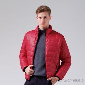 【ROBERTA諾貝達】休閒極品 禦寒必備 厚舖棉夾克外套 紅色