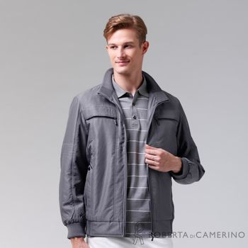 【ROBERTA諾貝達】禦寒必備 獨特魅力 厚舖棉夾克外套 灰色