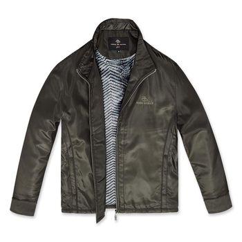 PB 時尚格紋內刷毛保暖外套‧咖啡M-XXL