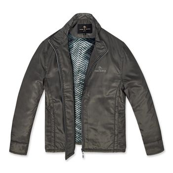 PB 時尚格紋內刷毛保暖外套‧灰褐M-XXL