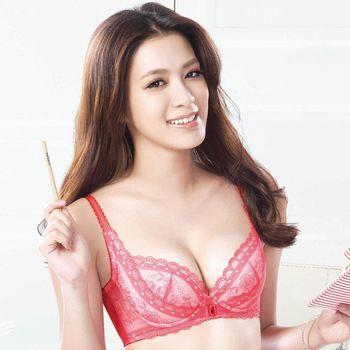 【華歌爾】莎薇系列魔力推推 摩力釦 B-D罩杯內衣(桃花粉)