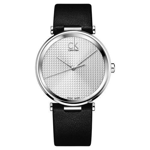 Calvin Klein CK Sight 立體格紋時尚腕錶-銀/40mm K1S21120