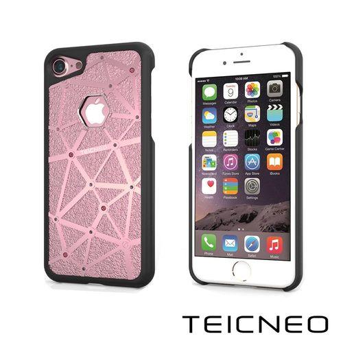 TeicNeo 航太鋁合金手機保護殼   晶之枷鎖 iPhone 7時尚粉
