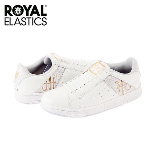 【Royal Elastics】女-Icon 休閒鞋-白/金標(92064-003)