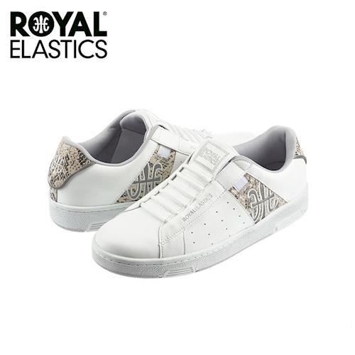 【Royal Elastics】女-Icon Alpha 休閒鞋-白/蛇紋(92064-080)