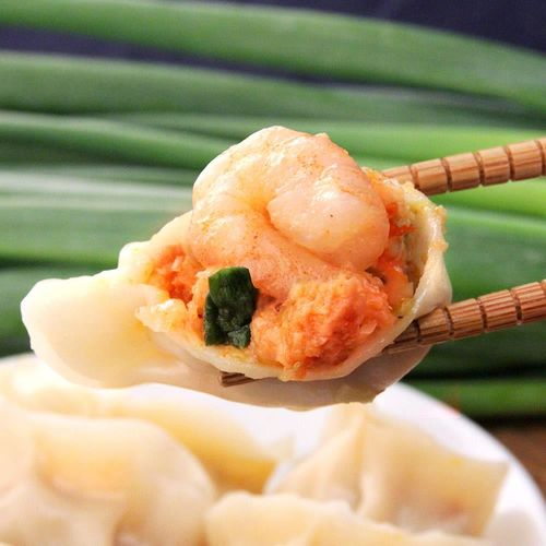 手工全蝦泡菜大水餃*8包組(20顆/包)