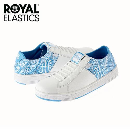 【Royal Elastics】女-Icon Z 休閒鞋-白/花布藍(92964-505)