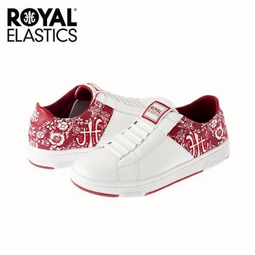 【Royal Elastics】女-Icon Z 休閒鞋-白/花布紅(92964-101)