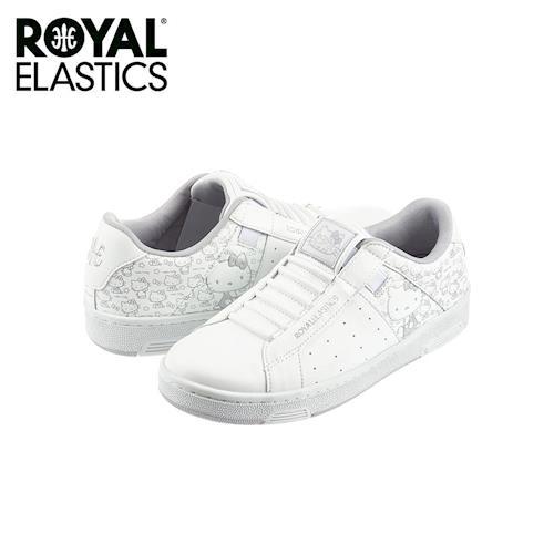 【Royal Elastics】女-Icon Hello Kitty 聯名款 休閒鞋-全白(92072-000)