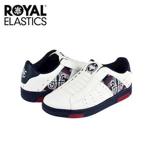 【Royal Elastics】女-Icon National Star 休閒鞋-白/藍底(92072-105)