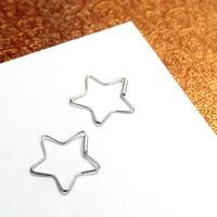 ART64耳環 星星 線狀 純銀耳環~64DESIGN