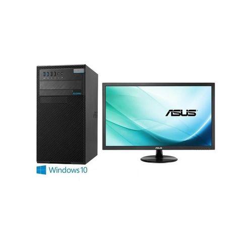 ASUS華碩 D630MT i5-7500四核 Win10Pro 桌上型電腦+VP229DA 21.5吋 電腦螢幕 超值組