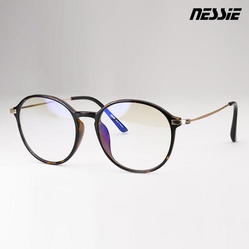 【Nessie尼斯眼鏡】抗藍光眼鏡-復古系列(圓框玳瑁) 贈精美眼鏡盒 復古圓框 高科技防水鍍膜 專業反射式濾藍光鏡片