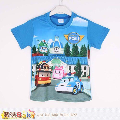 魔法Baby 男童裝 POLI波力授權正版短袖T恤~k50387