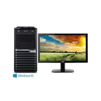 ACER 宏碁 VM4630G-6QA i5-4460四核 128GB SSD Win10Pro 桌上型電腦+KA220HQ 21.5吋 電腦螢幕 超值組