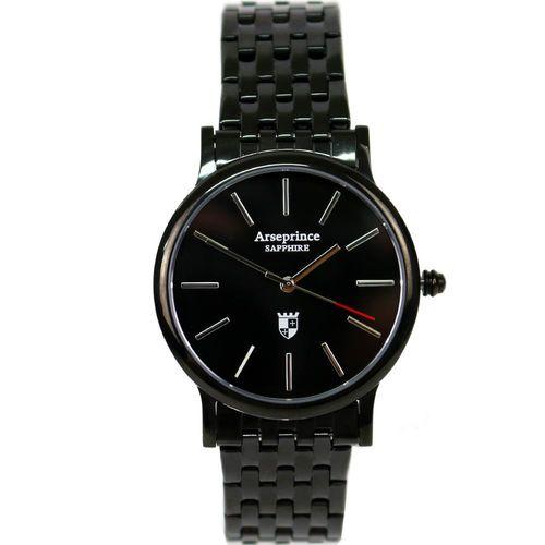 Arseprince 杜克生活時尚中性錶-黑銀