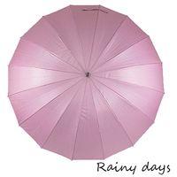 ~Rainy days~16傘骨無敵抗風防潑銀膠手開直傘 ^#45 粉色