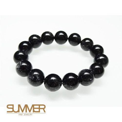 【SUMMER寶石】天然黑髮晶手珠《 61g 》(tt-7)