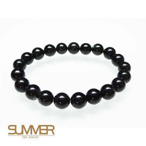 【SUMMER寶石】天然黑髮晶手珠《 23g 》(tt-4)