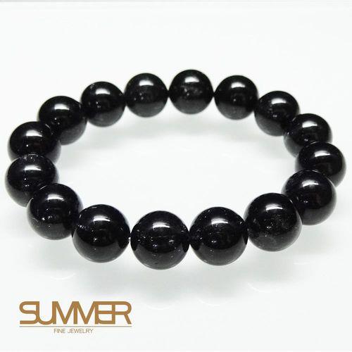 【SUMMER寶石】天然黑髮晶手珠《 52g 》(tt-6)