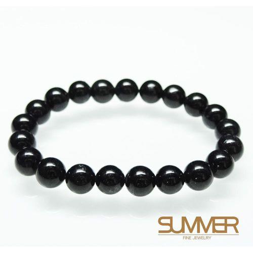 【SUMMER寶石】天然黑髮晶手珠《 23g 》(tt-2)