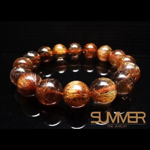 【SUMMER寶石】天然紅銅鈦手珠《 54g 》(tt-50)
