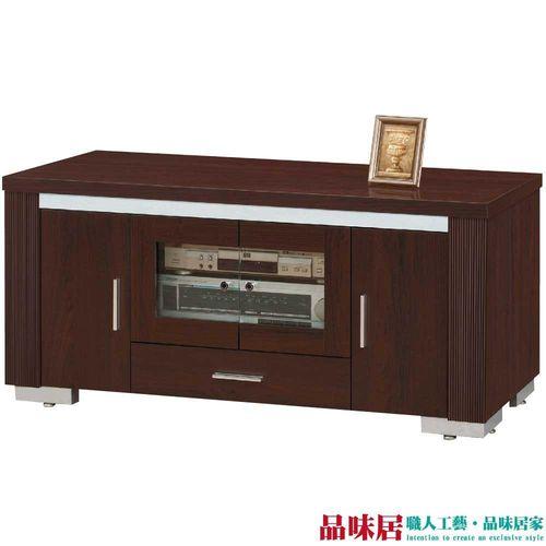 【品味居】札克 時尚4尺胡桃木紋電視櫃/視聽櫃