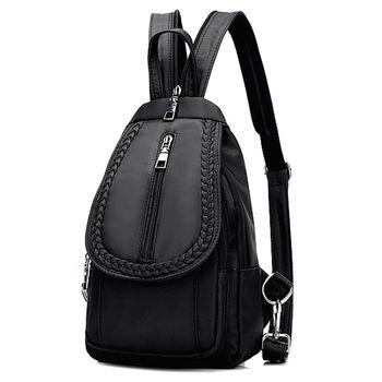Acorn橡果-牛津布運動休閒旅遊防水背包6511(黑色)