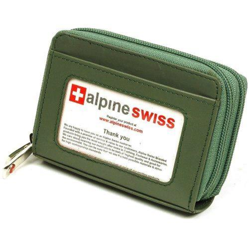 Alpine Swiss 2017瑞士十迷你信用卡植物綠色拉鍊管理夾包(預購)
