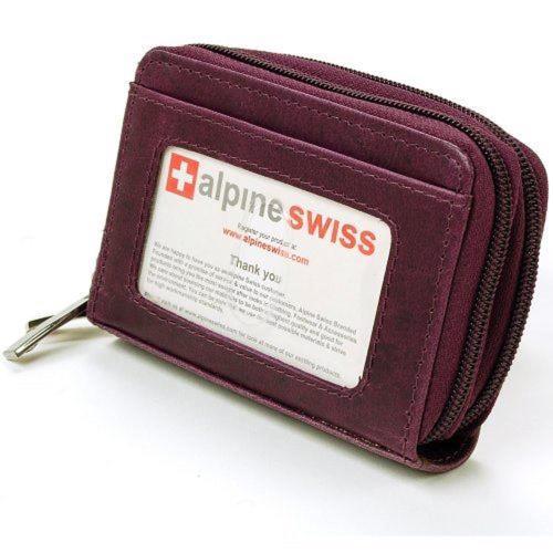 Alpine Swiss 2017瑞士十迷你信用卡梅色拉鍊管理夾包(預購)